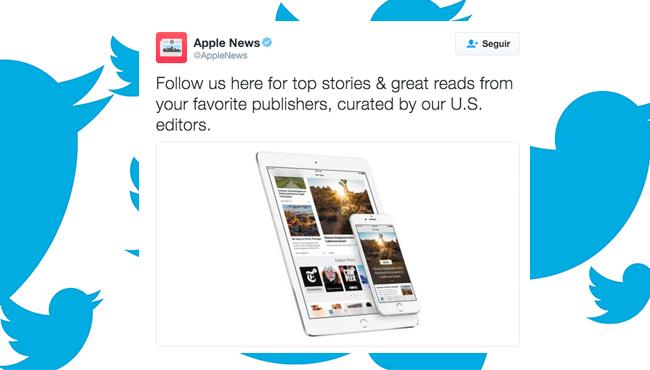 Apple News se lanza a Twitter para ganar usuarios