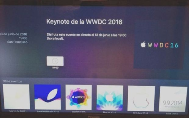 El canal de la WWDC16 ya se encuentra disponible en el Apple TV