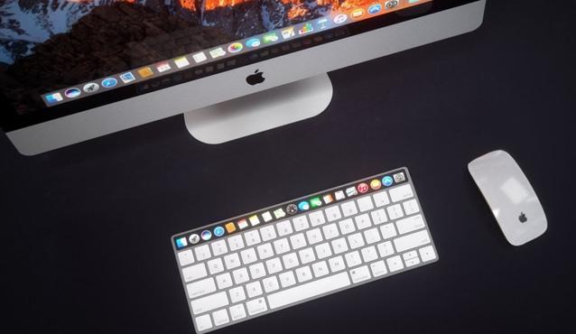El Mac y su teclado con barra táctil OLED. Un concepto fantástico