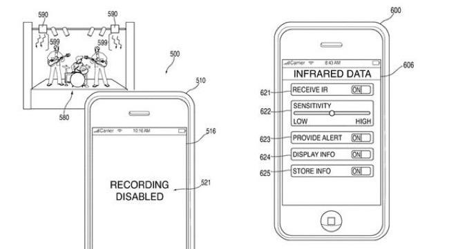 Apple patenta un sistema que prohibirá grabar en conciertos