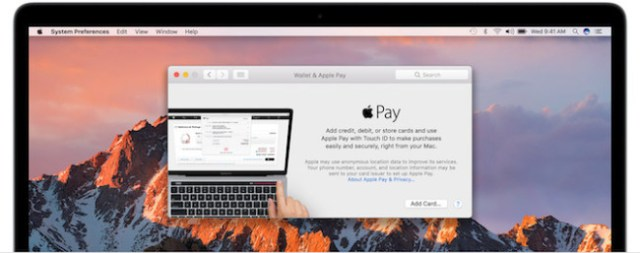 Apple Pay MacBook Pro Touch ID