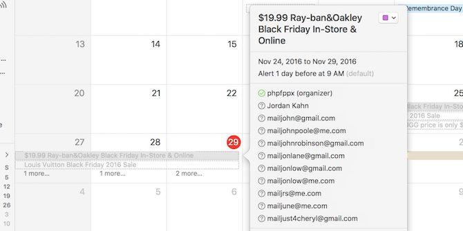Apple pide disculpas por el spam en el calendario de iCloud