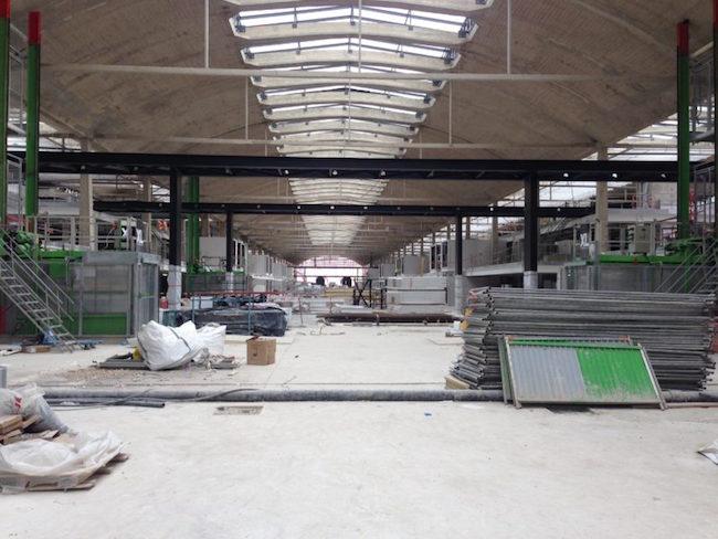 Proyecto Halle Freyssinet en construcción