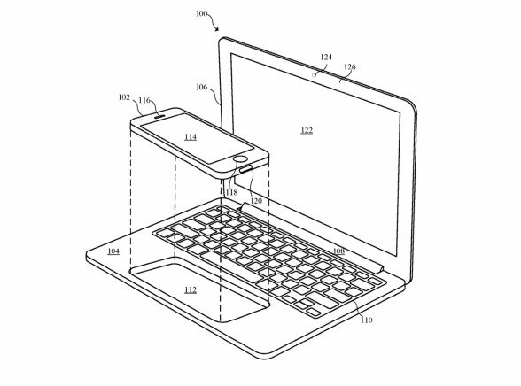 Patente de Apple describe una MacBook que hace de accesorio para el iPhone