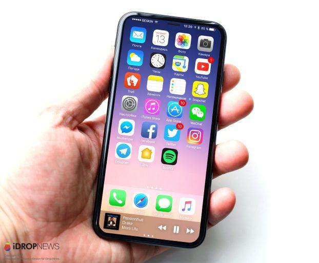 Posible iPhone 8 con Touch ID trasero, bíseles de 4 mm y cámara frontal invisible