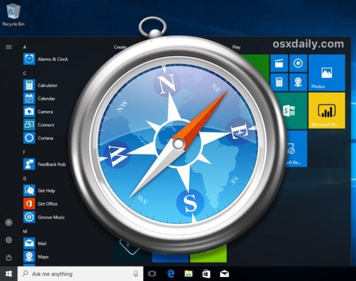 Instalar Safari en Windows