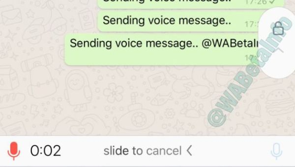 Notas de audio WhatsApp