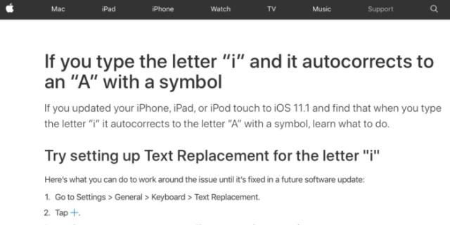 Solución 'I' en el teclado iOS