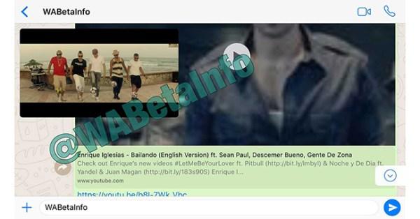 Modo PiP y YouTube en WhatsApp