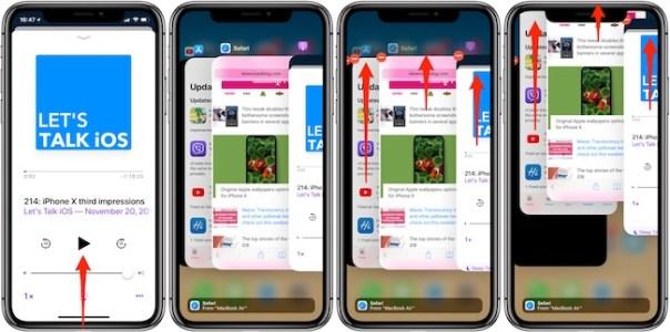 Cierre forzoso iPhone X