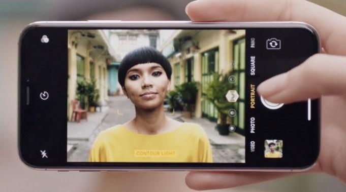 Modo retrato del iPhone X nuevo anuncio