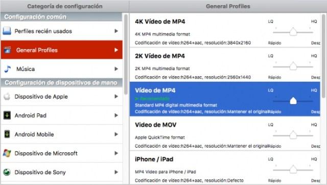 MacX Video Converter Pro - Formatos