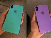 Un iPhone X de color