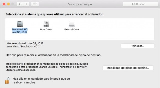 Elección de partición para instalar windows 10 en macOS