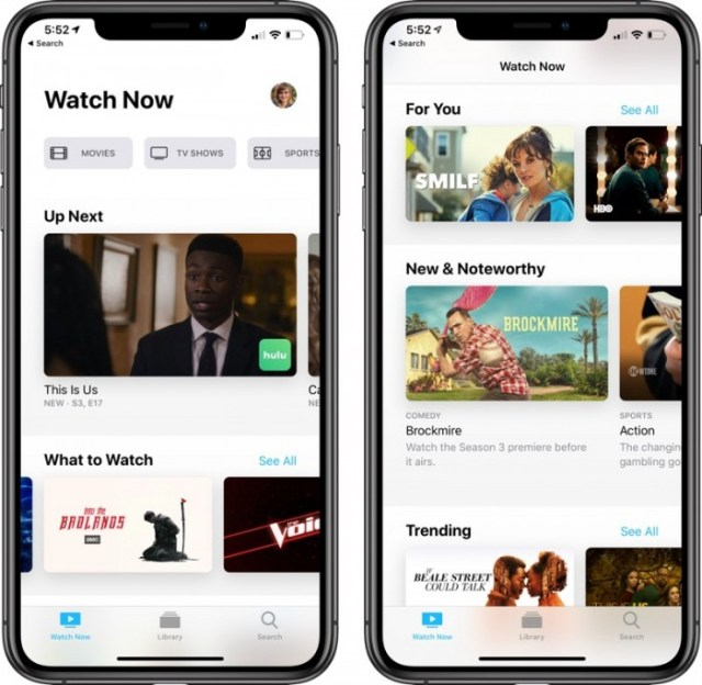 Apple TV app iOS 12.3