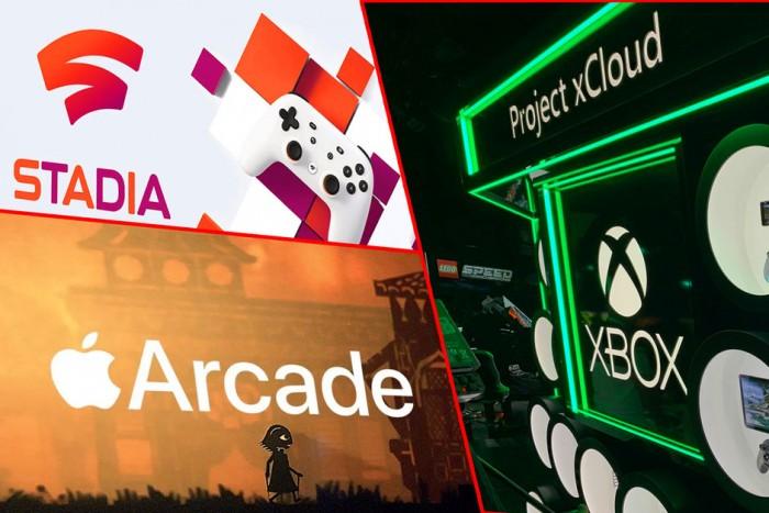 Google Stadia vs Apple Arcade vs Microsoft Project xCloud