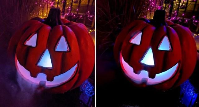 Foto de la derecha tomada con iPhone 11, la de la izquierda tomada con el Google Pixel 4