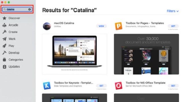 Mac App Store Catalina