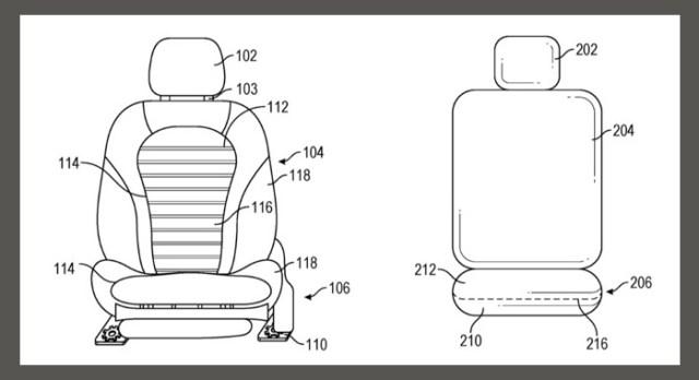 patente Asientos Apple Car