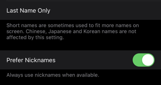 añadir apodos