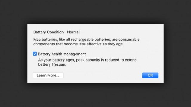 Battery Health Management  nueva función de Mac