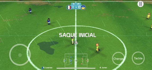 Inicio de partido en Charrua Soccer