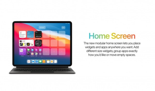 Pantalla de inicio iPadOS