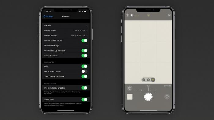 Mejoras a la app cámara con iOS14