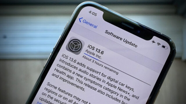 iOS 13.6 en iPhone