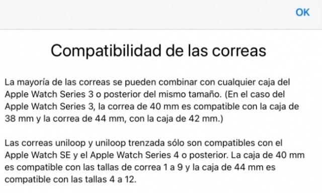 Compatibilidad de correas Solo Loop