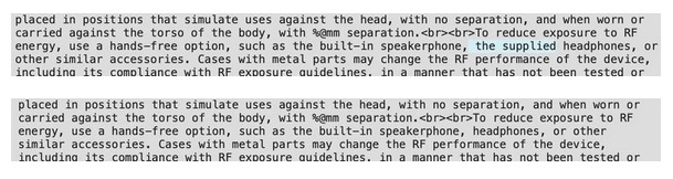 EarPods apartado legal iOS 14.2
