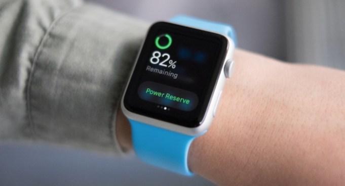 batería optimizada en Apple Watch