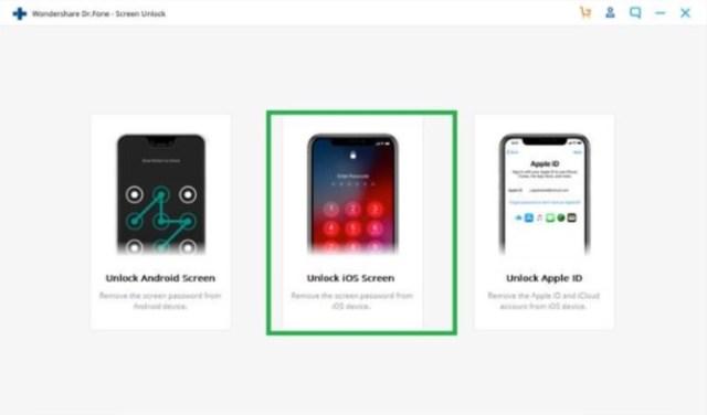 Dr. Fone desbloquear pantalla de un iPhone