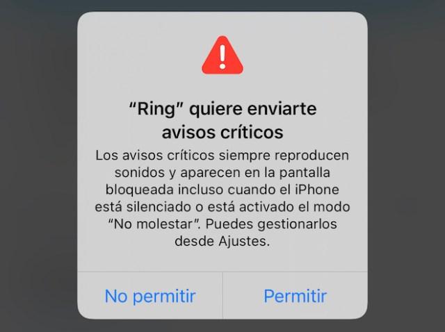 Avisos críticos Ring