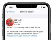 iOS 14.0.1 Actualización
