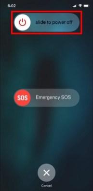Apagar y encender el iPhone SE