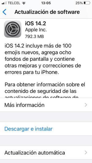 Actualizar version de iOS