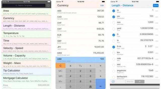 aplicaciones iOS Converter Plus