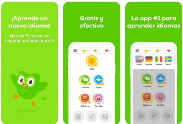 aplicaciones iOS Duolingo