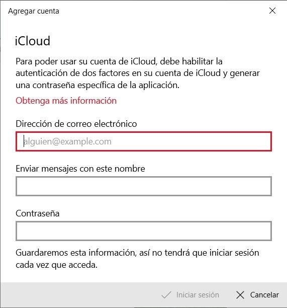 Credenciales de iCloud
