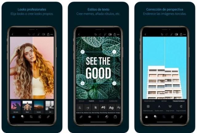 aplicaciones iOS Photoshop Express