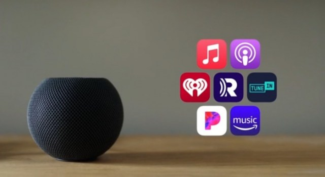Servicios de streaming en el HomePod mini
