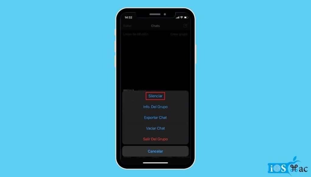 Cómo desactivar WhatsApp temporalmente en el iPhone