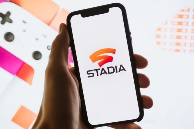 Stadia en un iPhone