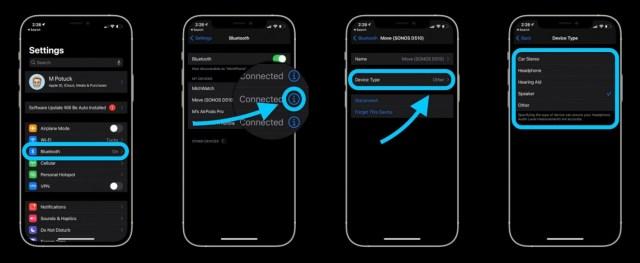 etiquetar dispositivos Bluetooth