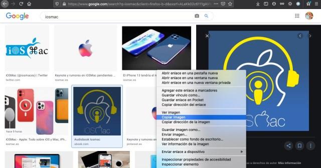 Copiar imagen en la web