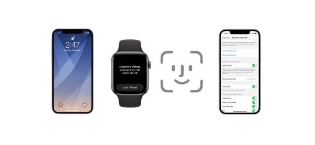 Desbloqueo de iPhone con Face ID y Apple Watch iOS 14.5 beta 1
