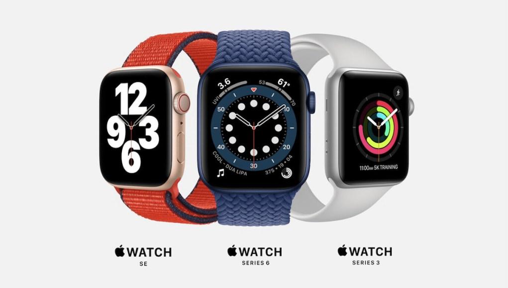Gamas de Apple Watch 2020
