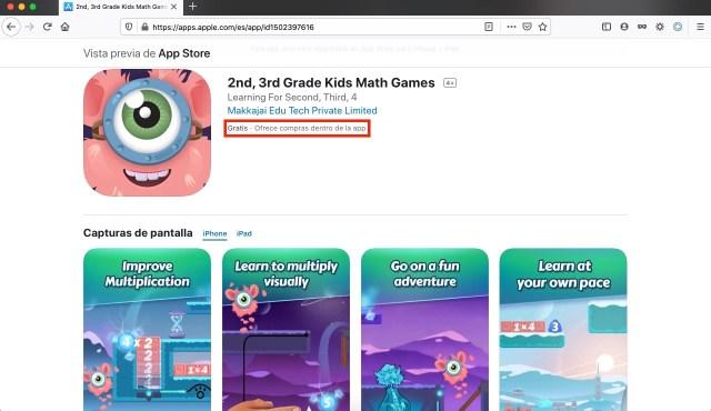 Juegos matemáticos para niños, app gratis