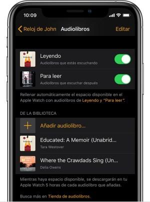 Audiolibros en Apple Watch